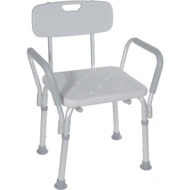 Bath Bench with Padded Arms  sc 1 st  Northeast Mobility & Shower Chair with Back and Arms - Northeast Mobility