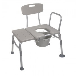 BATH TRANSFER BENCH WITH COMMODE OPENING
