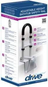 clamp-on bath tub rail Drive Medical