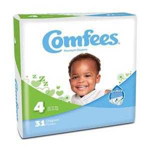 Comfees Baby Diapers Size 4